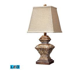 Dimond Lighting - Dimond Lighting Randolph Distressed Wood Style Accent Lamp - LED Offering Up To - Distressed Wood Style Accent Lamp - LED Offering Up To 800 Lumens belongs to Randolph Collection by Dimond Lighting Lamp (1)