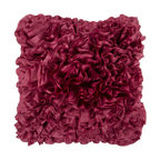 Surya Rugs - Dark Red Ruffle 18 x 18 Pillow - This pillow brings the best of style in to your space. With lacy ruffle features this decorative pillow is a thing of beauty. The color dark red accents this fabric. This pillow contains a poly fill and a zipper closure. Add this pillow to your collection today.  - Includes one poly-fiber filled insert and one pillow cover.   - Pillow cover material: 100% Polyester Surya Rugs - BB030-1818P