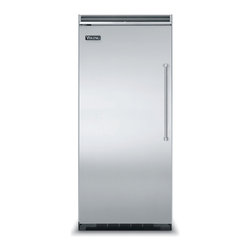 "Viking 36"" Built-in All-freezer, Stainless Steel Left Hinge 