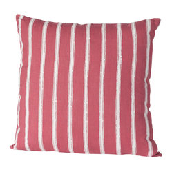 Alexandria Stripe Pillow, Rose/White