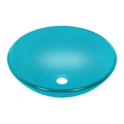 "MR Direct - Turquoise Colored Glass Vessel Sink - The 601-Turquoise glass vessel sink is manufactured using fully tempered glass. This allows for higher temperatures to come in contact with your sink without any damage. Glass is more sanitary than other materials because it is non-porous,  will not absorb stains or odors and is easy to clean.  A matching glass waterfall faucet is available to correspond with this sink. The overall dimensions for the 601-Turquoise turquoise are  and an 18"" minimum cabinet size is required.  As always, our glass sinks are covered under a limited lifetime warranty for as long as you own the sink."