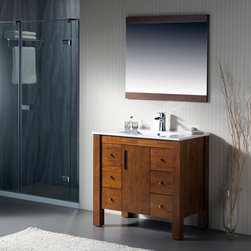 Modern Bathroom Vanities - The Parsons collection has a versatile style that fits into both transitional and contemporary settings. The beauty of this vanity lies in its simplicity, with straight lines and right angles. It is ideal for homeowners who want a clean and understated look. It features an abundance of soft close drawers for maximum storage.