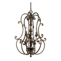 """Kichler - Kichler 43282TRZ Mithras 2-Tier Candle Chandelier w/6 Lights - 72"""" Chain - Product Features:"""