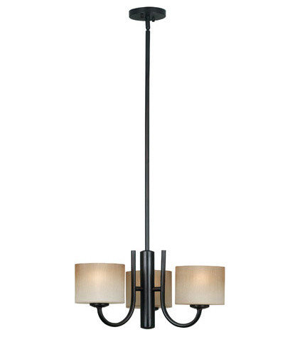 Transitional Chandeliers Matrielle Oil Rubbed Bronze Three-Light Convertible Chandelier