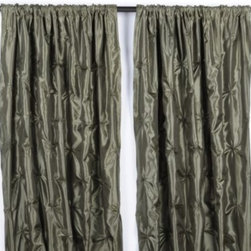 Sage Green Pintuck Curtains - Get the look of silk but without the big price tag.  Sage Green Pintuck Curtains give the look of beautiful silk, along with great pintuck styling.  These drapes would look beautiful in a bedroom or formal dining room.