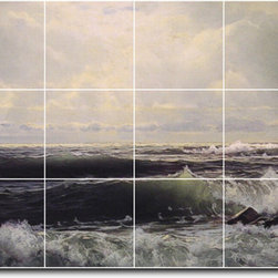 Picture-Tiles, LLC - The Sheefold Eastons Point Tile Mural By William Richards - * MURAL SIZE: 24x48 inch tile mural using (18) 8x8 ceramic tiles-satin finish.