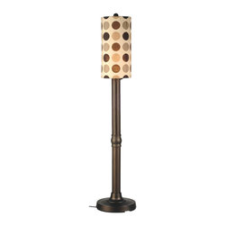 """Patio Living Concepts - Patio Living Concepts Coronado 70 Inch Floor Lamp w/ 3 Inch Bronze Body & Mojito - 70 Inch Floor Lamp w/ 3 Inch Bronze Body & Mojito Coffee Bean Sunbrella Shade Fabric belongs to Coronado Collection by Patio Living Concepts Simplistic contemporary styling highlights this weatherproof lamp. 3"""" bronze resin body tube, heavy weighted base and durable acrylic bulb enclosure allows the use of a standard 100 watt bulb. 12 ft. weatherproof cord and plug. Two level dimming switch. Mojito coffee bean outdoor shade fabric. Model #47257 Lamp (1)"""
