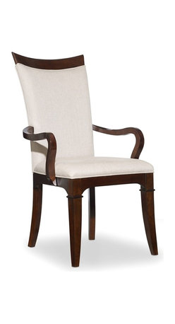 Hooker Furniture - Palisade Upholstered Chair - Set of 2 - Arm - White glove, in-home delivery!  For this item, additional shipping fee will apply.  Palisade offers modern style based on traditional design and a contemporary flair with classic beauty.  Taupe fabric.