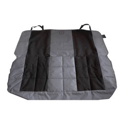 Pet Ego - Anthracite & Black Velvet Rear Seat Protector - High-quality fabric in this rear seat cover keeps your pet comfortable, and the neoprene belts make sure everything stays secure until the ride is over!   52'' W x 48'' H Velvet Machine wash Imported