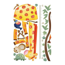 RoomMates Peel & Stick - Jungle Adventure Giraffe Growth Chart - Watch your little one grow strong and tall with the help of this adorable jungle animal growth chart. A tall giraffe joins a mischievous monkey, friendly toucan, and happy turtle in measuring your child's height. The growth chart can be applied to any wall in a matter of minutes, and can even be moved around without damage or residue. A great decorating option for nurseries and bedrooms.
