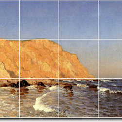 Picture-Tiles, LLC - Clay Bluffs On No Mans Land Bass Fishing No Mans Land Tile Mural By Sa - * MURAL SIZE: 24x48 inch tile mural using (18) 8x8 ceramic tiles-satin finish.