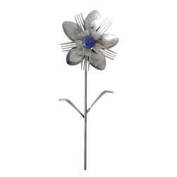 Forked Up Art - Ophilia - Flower - A great display for the garden!