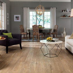 QuickStep Reclaime Malted Tawny Oak 12 mm. Laminate Floor - The QuickStep Reclaime collection features the visual charm and character of a time-worn, reclaimed hardwood floor. Choose between beautiful real wood-looking planks reminiscent of vintage wood.