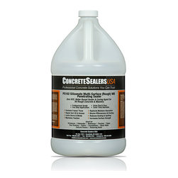 Concrete Sealers USA - PS102 Siliconate Multi-Surface (Rough) WB Penetrating Sealer (1 gal.) - Zero VOC, Water Based Sealer & Curing Agent for All Rough Concrete & Masonry