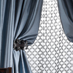 "Amity Imports ""Radiance"" Silk Curtains -"