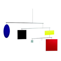 Flensted Mobiles - Circle Square Mobile - A cubist's dream: These shapes and colors, especially designed to catch your newborn's eye, will make your little one gurgle with delight. And you'll love the flare it brings to the nursery.