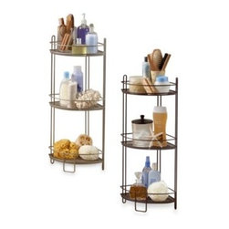 Msa Products, Inc. - 3-Tier Corner Tower - Perfect for a bathroom corner, this mesh, 3-tier shelving system provides plenty of storage space.