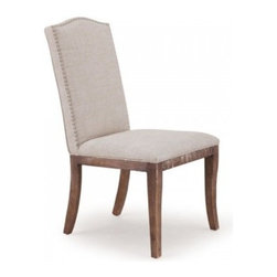Zuo modern - Lombard Chair Linen and Oak - So delightfully sturdy and understated, you'll never tire of the simplistic beauty this oak chair brings to your table. With a hard oak frame, neutral linen covering to match any color scheme and enduringly quaint nail heads studding the perimeter, this chair has a right to take itself seriously.