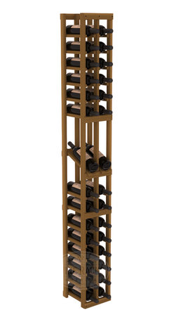 2 Column Display Row Cellar Kit in Redwood with Oak Stain - Make your best vintage the focal point of your wine cellar. High-reveal display rows create a more intimate setting for avid collectors' wine cellars. Our wine cellar kits are constructed to industry-leading standards. You'll be satisfied. We guarantee it.