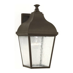 Murray Feiss - Murray Feiss Terrace Outdoor Wall Mount Light Fixture in Oil Rubbed Bronze - Shown in picture: Terrace Outdoor Lantern- Wall Brkt in Oil Rubbed Bronze finish with Clear Seeded Glass
