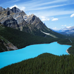 Murals Your Way - Peyto Lake, Banff National Park Wall Art - Photographed by Charles Gurche, Peyto Lake, Banff National Park wall mural from Murals Your Way will add a distinctive touch to any room