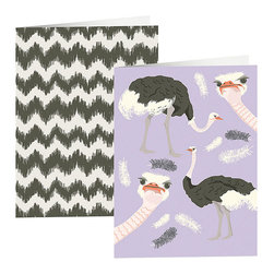 Ostrich & Chevron Pocket Folders - Just because fun printed folders keep you organized and smiling.