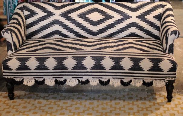 Traditional  chevron sofa