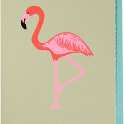 Flamingo Cards - These flamingo cards are a chic choice for the lover of Palm Beach chinoiserie.