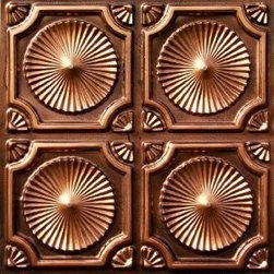 """Decorative Ceiling Tiles - Whirligigs - Faux Tin Ceiling Tile - Glue up - 24""""x24"""" - #106 - Find copper, tin, aluminum and more styles of real metal ceiling tiles at affordable prices . We carry a huge selection and are always adding new style to our inventory."""