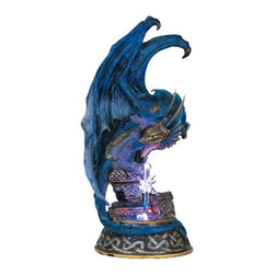 GSC - Dragon w/ Lighting LED Crystal Ball Collectible Figurine Statue Model - This gorgeous Dragon w/ Lighting LED Crystal Ball Collectible Figurine Statue Model has the finest details and highest quality you will find anywhere! Dragon w/ Lighting LED Crystal Ball Collectible Figurine Statue Model is truly remarkable.