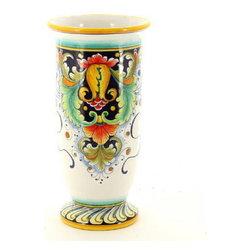 Artistica - Hand Made in Italy - Deruta Glt: Cylindrical Vase (Dec. 197) - Deruta Vario Collection: