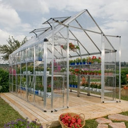 Palram Snap & Grow 6 x 16 ft. Greenhouse - Silver - Additional FeaturesGorgeous greenhouse is easy to assembleWindow features weather-strippingAdjustable roof ventilation keeps plants healthyHeavy duty aluminum frameGreat for growing in all climatesBeautiful silver frameLimited 5 year warrantyEasy to assemble, the Palram Snap & Grow 6 x16 ft. Greenhouse is not only beautiful, but provides you with a little private sanctuary that is all your own. The crystal-clear SnapGlas panels lock into place easily and are virtually unbreakable. The preassembled split-style door provides easy access and ventilation, while the window has weather stripping and the roof features an adjustable vent to help keep your plants healthy. Great for growing in all seasons, you'll love having plants, flowers, and produce just a few feet from your own front door.