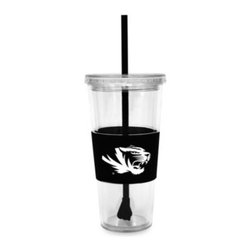 Boelter Brands Llc - Double Wall 22-Ounce Tumbler with Lid & Straw - University of Missouri - Double walled acrylic tumbler comes with a team colored straw and rubberized sleeve. Clear screw-on lid helps prevent spills.