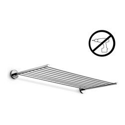 WS Bath Collections - Duemila Towel Rack - Duemila By WS Bath Collections Towel Rack 23.6, in Polished Chrome, Solid Brass Base, Self-Adhesive Wall Installation, No Screws Required, Made in Italy