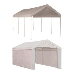 None - Shelterlogic MAX AP Canopy Series 10' x 20' 2-in-1 Canopy Pack - All-purpose canopy provides temporary seasonal storage and protection from sun and rain. Perfect for outdoor art shows,flea markets,weddings,picnics or vehicle storage.