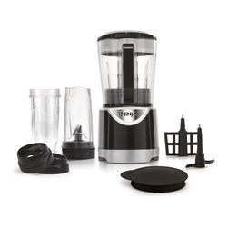 Ninja - Ninja BL201 Pulse Kitchen System - The Ninja Pulse Kitchen System combines the function of many kitchen appliances all into one, for optimal performance. Forget the mess and hassle of a bulky stand mixer or juicer. Say goodbye to over-processed mushy ingredients.
