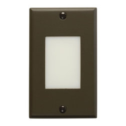 Kichler Lighting - Kichler Lighting Lens Face Dimmable LED Step Light X-ZA45621 - This Kichler Lighting lens face dimmable LED step light features a warm Architectural Bronze finish and contrasting lens face for ample lighting over stairs, adding safety and security to the stairway.