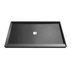 Tileredi - TileRedi WD3648C-PVC 36x48 Single Curb Pan Center Drain - TileRedi WD3648C-PVC 36 inch D x 48 inch W, fully Integrated Shower Pan with PVC Center Wonder Drain