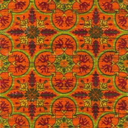"Loloi Rugs - Loloi Rugs Aria Collection - Orange / Multi, 1'-8"" x 3' - Expressive and relaxed, stylish and fun. The Aria Collection from India has it all. Pretty paisley patterns, flourishing flowers, dreamy damasks and magical medallion designs are printed onto 100% recycled cotton Chindi for scatter rugs that are flirty and fashionable. Dressed in a palette of bold, saturated colors that take you from cool blues and pinks to warm spice tones and modern tropical hues, too, Aria rugs come in select scatter sizes that will accent choice spaces with flair."
