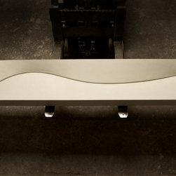 White Concrete Spa Spine Sink by Gore Design Co. - ©2014 Gore Design Co., LLC