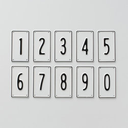 Black & White Number Signs - Typographic design elements marry perfectly with a chic monochromatic scheme.