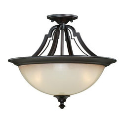 "Vaxcel Lighting - Elba 15.5"" Semi-Flush Ceiling Light - Vaxcel Lighting products are highly detailed and meticulously finished by some of the best craftsmen in the business."