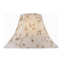 Lite Source - Jacquard Bell Shade in Cream - Shade top: 7 in. Dia.. Shade bottom: 18 in. Dia.. Shade height: 12.5 in.. Weight: 2.3 lbs.