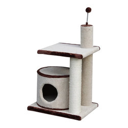 PetPals - PetPals Group 20 x 16 x 29 in. Multi-Level Cat Condo with Sisal Post Multicolor - Shop for Cat Scratchers and Accessories from Hayneedle.com! Multi level cat furniture with condo is made with high quality carpet with a long lasting sisal post and attached teaser toy. About PetPals GroupFounded in 1995 PetPals Group has been committed to the creation of high-quality pet products and innovative designs within their field. With a passion for the business and a love for animals the former Dong Yang Tai Handycrafts has now transformed into the PetPals Group company you know and love. To date PetPals Group is one of the most recognizable pet product manufacturers in the world doing most of their business in Europe and Japan. Though the name has changed PetPals Group still holds its commitment to supply comfortable products for pets and to keep its customers happy.