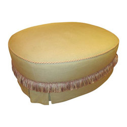 SOLD OUT! Oval Ottoman from Witford SF - $1,200 Est. Retail - $350 on Chairish.c -