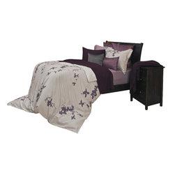 Daniadown Home - Duvet Cover Set - Tokyo Purple (King) - Choose Size: King.