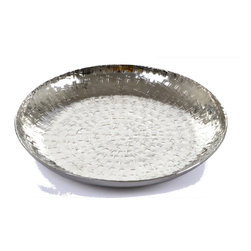 "Concepts Life - Concepts Life Decorative Bowl  Hammered Metal  Solstice Collection  8"" - This silver serving bowl has been hammered to perfection and will bejewel your table. This serving piece is also well-suited as a decorative platter to hang on a wall or display on a mantle.  Hammered aluminum serving decorative bowl Beautiful lines and high polish Comes in a variety of shapes and sizes Dimensions: 1.5""h x 8"" diameter Weight: .5 lb Imported"