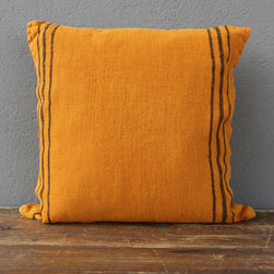 orange linen pillow - please e-mail us at info@redinfred.com for more information + purchasing availability