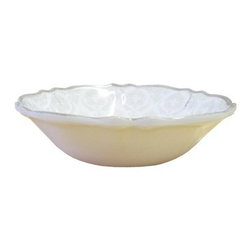Le Cadeaux Louis White Cereal Bowl - Set of 4 - The Le Cadeaux Louis White Cereal Bowl - Set of 4 will really bowl you over! These elegant bowls are perfect for eating from and for looking at - strange, but true! Crafted of melamine, these bowls are BPA-free and dishwasher-safe.About Le CadeauxA subsidiary of Touch of Europe, Le Cadeaux specializes in beautiful melamine dishes, placemats, towels, and other kitchen necessities. With items from many countries including France, Italy, Great Britain, Sweden, and others, Le Cadeaux is sure to have just the piece to suit any taste.