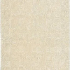 Spectrum Rug in Cream (Geometric Pattern, Rug Sample) | Handmade Area Rugs from